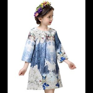 Childdkivy Children's Dress Enchanted Unicorns 3